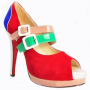 Replica Christian Louboutin Lillian 140mm Mary Jane Pumps Multicolor Cheap Fake Shoes