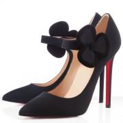 Replica Christian Louboutin Pensee 120mm Mary Jane Pumps Black Cheap Fake Shoes