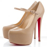 Replica Christian Louboutin Lady Daf 160mm Mary Jane Pumps Nude Cheap Fake Shoes