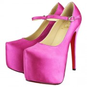 Replica Christian Louboutin Lady Daf 160mm Mary Jane Pumps Pink Cheap Fake Shoes