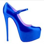 Replica Christian Louboutin Lady Daf 160mm Mary Jane Pumps Dark Blue Cheap Fake Shoes