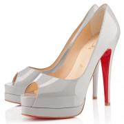 Replica Christian Louboutin Altadama 140mm Peep Toe Pumps Souris Cheap Fake Shoes