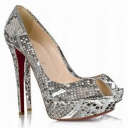 Replica Christian Louboutin Banana 140mm Peep Toe Pumps Multicolor Cheap Fake Shoes