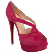Replica Christian Louboutin Lady Corset 140mm Peep Toe Pumps Rose Matador Cheap Fake Shoes