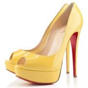 Replica Christian Louboutin Lady 140mm Peep Toe Pumps Canari Cheap Fake Shoes