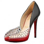 Replica Christian Louboutin Engin 120mm Peep Toe Pumps Black Cheap Fake Shoes