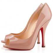 Replica Christian Louboutin Maryl 120mm Peep Toe Pumps Nude Cheap Fake Shoes