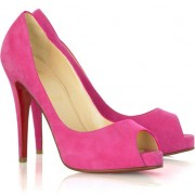 Replica Christian Louboutin Very Prive 120mm Peep Toe Pumps Pink Cheap Fake Shoes