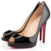Replica Christian Louboutin Yolanda Spikes 120mm Peep Toe Pumps Black Cheap Fake Shoes
