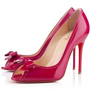 Replica Christian Louboutin Milady 100mm Peep Toe Pumps Pink Cheap Fake Shoes