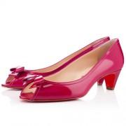 Replica Christian Louboutin Milady 40mm Peep Toe Pumps Pink Cheap Fake Shoes
