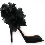 Replica Christian Louboutin Carnaval 120mm Special Occasion Black Cheap Fake Shoes