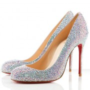 Replica Christian Louboutin Fifi Strass 100mm Special Occasion Aurora Boreale Cheap Fake Shoes