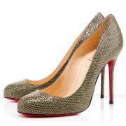 Replica Christian Louboutin Fifi 100mm Pumps Gold Cheap Fake Shoes