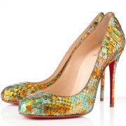 Replica Christian Louboutin Fifi 100mm Pumps Multicolor Cheap Fake Shoes