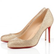Replica Christian Louboutin Fifi 80mm Pumps Gold Cheap Fake Shoes