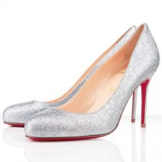 Replica Christian Louboutin Fifi 80mm Pumps Silver Cheap Fake Shoes