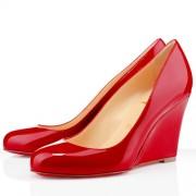 Replica Christian Louboutin Ron Ron Zeppa 80mm Wedges Red Cheap Fake Shoes