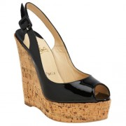 Replica Christian Louboutin Uue Plume 140mm Wedges Black Cheap Fake Shoes