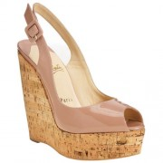 Replica Christian Louboutin Uue Plume 140mm Wedges Pink Cheap Fake Shoes