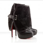 Replica Christian Louboutin Armony 140mm Ankle Boots Black Cheap Fake Shoes