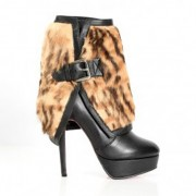 Replica Christian Louboutin Armony 140mm Ankle Boots Leopard Cheap Fake Shoes