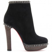 Replica Christian Louboutin Figurina 120mm Ankle Boots Black Cheap Fake Shoes