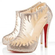 Replica Christian Louboutin Marale 140mm Ankle Boots Nude Cheap Fake Shoes