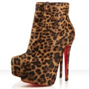 Replica Christian Louboutin Daf Booty 160mm Ankle Boots Leopard Cheap Fake Shoes