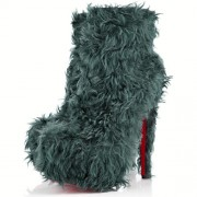 Replica Christian Louboutin Daf Booty 160mm Ankle Boots Turquoise Cheap Fake Shoes
