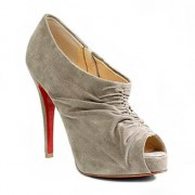 Replica Christian Louboutin Treopli 120mm Ankle Boots Grey Cheap Fake Shoes