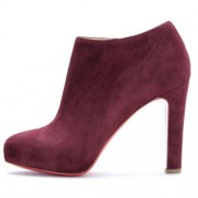 Replica Christian Louboutin Vicky Booty 120mm Ankle Boots Plum Cheap Fake Shoes