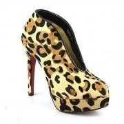 Replica Christian Louboutin Miss Fast Plato 120mm Ankle Boots Leopard Cheap Fake Shoes