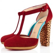 Replica Christian Louboutin Minochon 120mm Ankle Boots Moroccan Red Cheap Fake Shoes