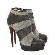 Replica Christian Louboutin Multi Booty 140mm Ankle Boots Grey Cheap Fake Shoes