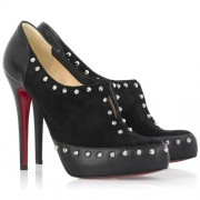Replica Christian Louboutin Astraqueen 120mm Ankle Boots Black Cheap Fake Shoes