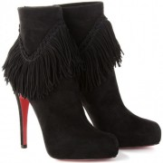 Replica Christian Louboutin Rom 120mm Ankle Boots Black Cheap Fake Shoes