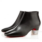 Replica Christian Louboutin Gloria 40mm Ankle Boots Black Cheap Fake Shoes