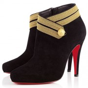 Replica Christian Louboutin Marychal 100mm Ankle Boots Leopard Cheap Fake Shoes