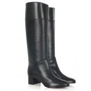 Replica Christian Louboutin Tuba 80mm Boots Black Cheap Fake Shoes