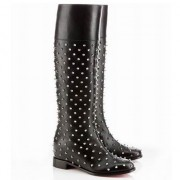 Replica Christian Louboutin Meneboot 40mm Boots Black Cheap Fake Shoes