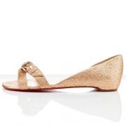 Replica Christian Louboutin Atalanta Flat Sandals Nude Cheap Fake Shoes