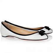 Replica Christian Louboutin Balinodono Ballerinas White Cheap Fake Shoes