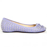 Replica Christian Louboutin Big Kiss Studded Ballerinas Parme Cheap Fake Shoes