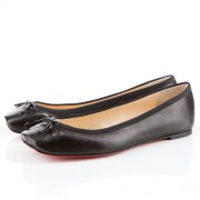 Replica Christian Louboutin Rosella Ballerinas Black Cheap Fake Shoes