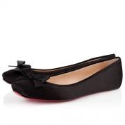 Replica Christian Louboutin Boudoir Satin Ballerinas Black Cheap Fake Shoes