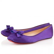 Replica Christian Louboutin Boudoir Satin Ballerinas Parme Cheap Fake Shoes