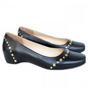 Replica Christian Louboutin Mousse Clou Ballerinas Black Cheap Fake Shoes