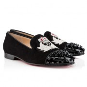 Replica Christian Louboutin Intern Loafers Black Cheap Fake Shoes