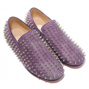 Replica Christian Louboutin Rolling Spikes Loafers Parme Cheap Fake Shoes